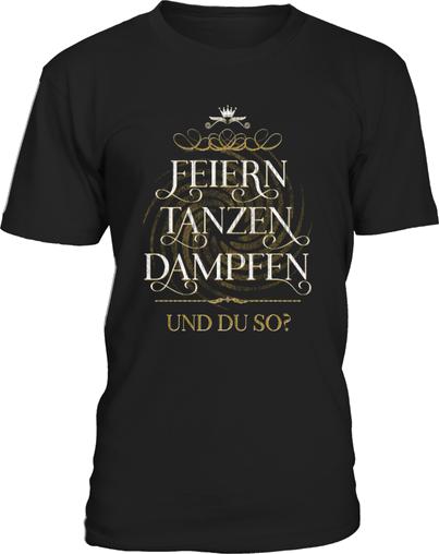 Dampfer Shirt feiern